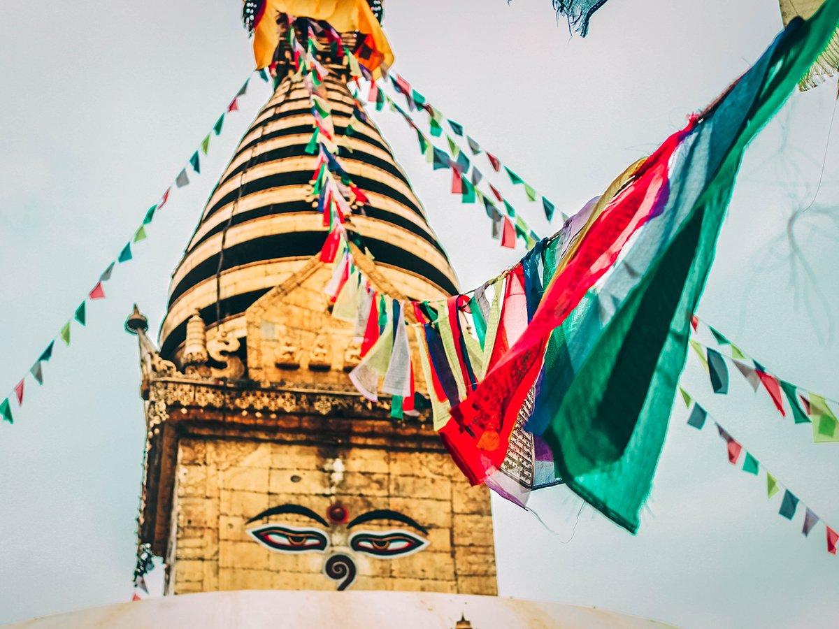 Symbol of peace Syambhunath temple of Nepal