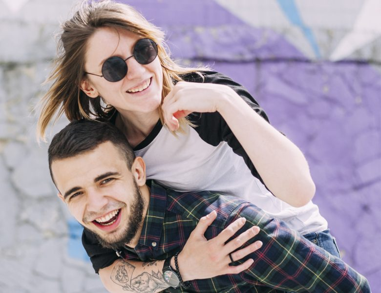 Couple having casual dress to visit