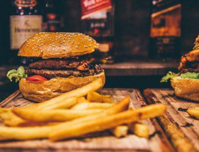 Roasted burger with vegetables burger