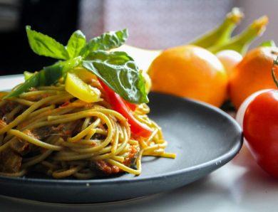 Spaghetti dish food cuisine italian red food