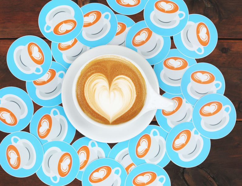 Make heart shape coffee with design
