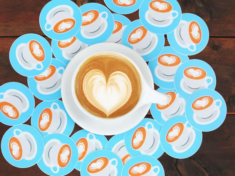 Make heart shape coffee with design