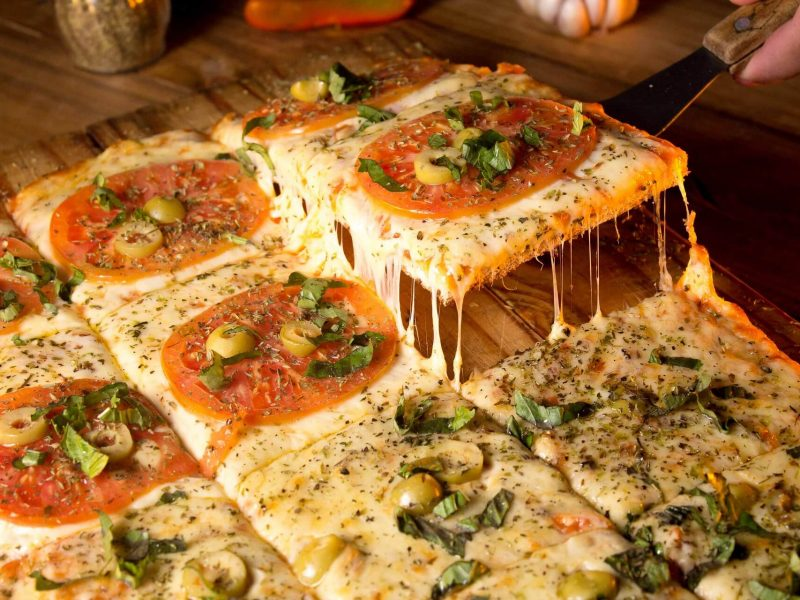 Yummy pizza with varieties of tastes