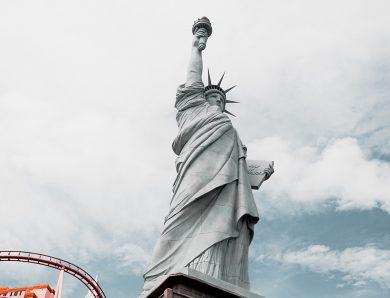 Statue of liberty represent  America