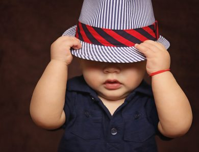 Baby boy enjoy with his hat